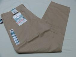 Men's Lee Weekend Flat Front Chino Pants True Khaki Size 38