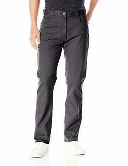 IZOD Men's Weekender Washed Straight-Fit Flat Front Pant - C
