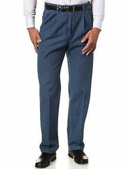 Haggar Men's Work-to-Weekend Hidden Expandable-Waist Denim P