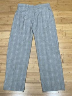 Men's Banana Republic 100% Cotton Gray Glen Plaid Modern F