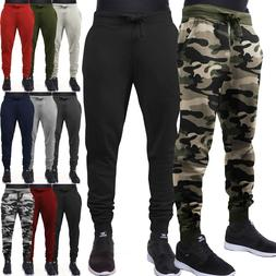 Mens Jogger Pants Sweatpants Track Slim Fit Fleece Workout G