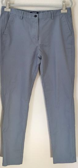 INFLATION Men's Casual Slim Fit Tapered Pants Silver Gray