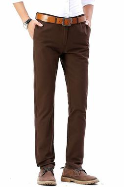 INFLATION Men's Casual Stretch Pant Comfort Straight Leg T