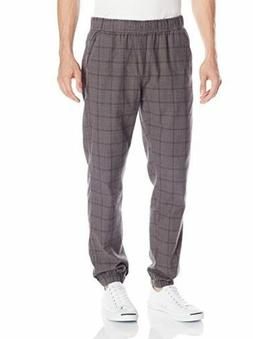 UNIONBAY Mens Jogger Pants Size Small Gray Koen Plaid