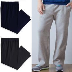 Mens Open Bottom Sweatpants Fruit of The Loom With Pockets S