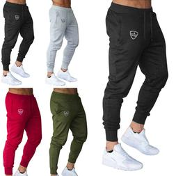 Men Slim Fit Tracksuit Sport Pants Gym Skinny Jogging Jogger