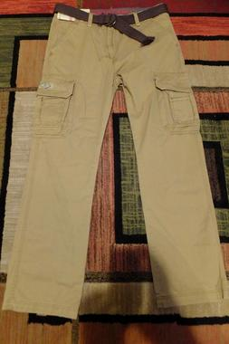 MENS UNIONBAY SURVIVOR BELTED CARGO PANTS 34x34 MSRP $52