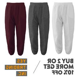 MENS WOMENS CASUAL SWEATPANTS PLAIN JOGGERS FLEECE HOUSE PAN