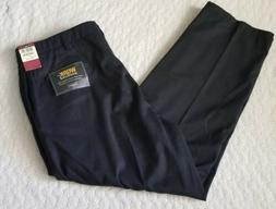 Haggar Mens Work To Weekend No Iron flat Front Black 40x30 B