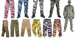military bdu pants army cargo fatigue camouflage