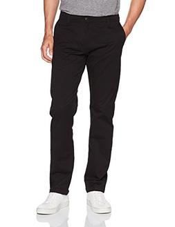 LEE Men's Modern Series Straight Fit Chino Pant, Black, 32W