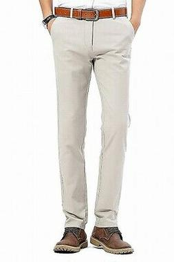 INFLATION NEW Beige Mens Size 29X31 Khakis Chinos Flat-Front