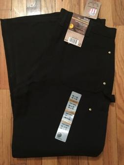 Carhartt NEW Black Mens Size 33x30 Double Front Duck Carpent