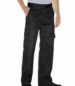 Dickies NEW Black Mens Size 36X30 Solid Loose-Fit Cargo Work
