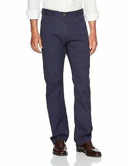 Haggar NEW Blue Mens Size 32x32 Relaxed Fit Straight Leg Str