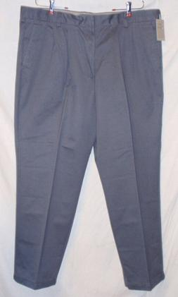New Dockers D4 True Chino Relaxed Fit Pleated Pants - Gray -