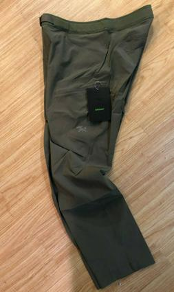 NEW ARCTERYX LEFROY PANTS MENS MONGOOSE QUICK DRY STRAIGHT L