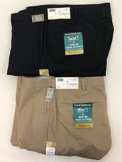 New Haggar Men's Classic Fit Non-Iron Stretch Khaki Pants Fl