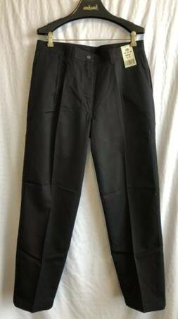 NEW: Men's LEE DOUBLE PLEAT WRINKLE FREE RELAXED BLACK PANTS