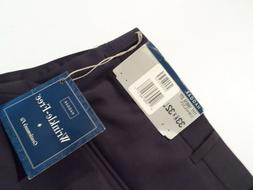 NEW Haggar Men's Dress Pants Size 33x32 Wrinkle Free Navy Bl