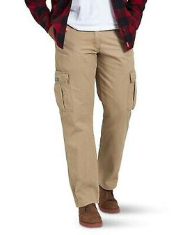 New Wrangler Men's Fleece Lined Cargo Winter Pants Khaki Men