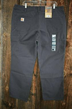 New Men's Carhartt Washed Duck Work Dungaree Gray Pants 40x3