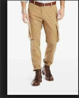 NEW MENS DOCKERS BROKEN IN STRETCH CARGO PANTS KHAKI 3287800