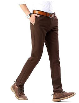 NEW INFLATION Men's Casual Stretch Pant Comfort Tapered Tr