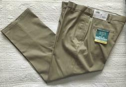 New Mens Haggar H26 Pants Classic Fit With Stretch Khaki Cho