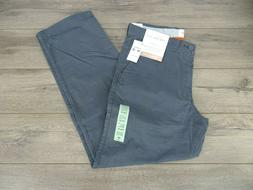 NEW MENS DOCKERS ON-THE-GO BROKE IN STRAIGHT FIT FLAT FRONT