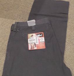 NEW Lee Mens Pants Weekend Chino Straight Flat Front ASH GRE