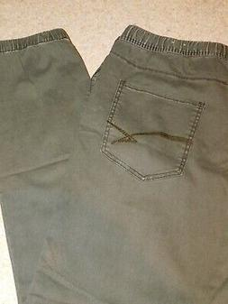 NWOT MENS LARGE ARMY GREEN UNION BAY JOGGER CHINOS PANTS DRA