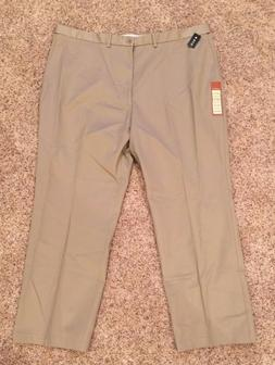 NWT Haggar 46 x 32 Flat Front Classic Fit Work to Weekend Kh