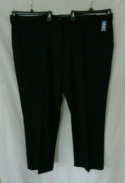 NWT Haggar Black flat front classic fit expandable waist pan