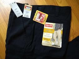 NWT Wrangler Flannel Lined Men's 100% Cotton Cargo Pants Ins