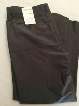 NWT David Leadbetter Men's Jos Bank Flat Stone Dress Pant Sl