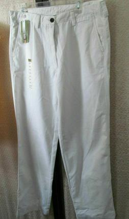 Nwt LIFE KHAKI BY HAGGAR white relaxed straight pants 36W x