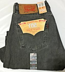 NWT MEN LEVI'S 501 -2495 ORIGINAL BUTTON FLY STRAIGHT BLAC