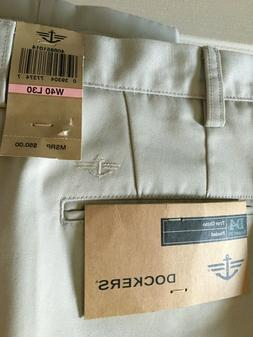 NWT Men DOCKERS Premium RELAXED Fit D4 CHINO Khaki Casual Dr