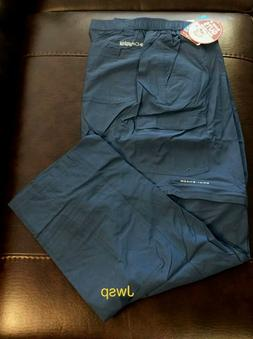 NWT Columbia Men's Blood & Guts III Convertible Pants Dark M