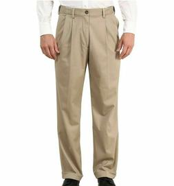 NWT,Dockers Men's Comford Khaki Relaxed Fit Pleated Stretch