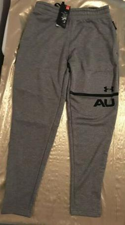 NWT Men's Under Armour Cold Gear Fitted Sweat Pants Gray-Siz