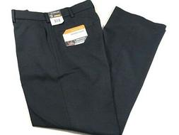 NWT Savane Mens Tailored Fit 30x30 Navy Flat Front Expand Wa