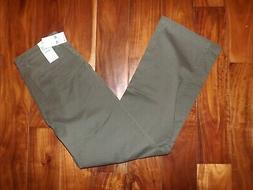 NWT Mens DOCKERS Washed Khaki Green Straight Fit Stretch Pan