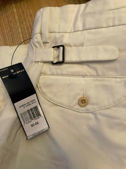 POLO RALPH LAUREN OFF WHITE 100% COTTON PLEATED FRONT CUFFED