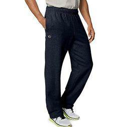 Champion Men's Powerblend Open Bottom Fleece Pant_Navy_S