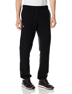 Champion Men's Powerblend Sweats Relaxed Bottom Pants Black
