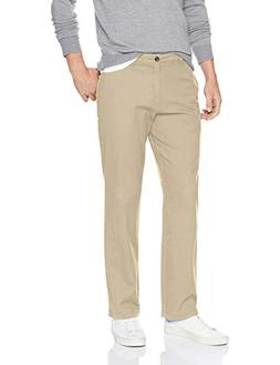 Amazon Essentials Men's Relaxed-Fit Casual Stretch, Khaki, 4