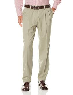 Dockers Men's Relaxed Fit Comfort Khaki Cuffed Pants-Pleated