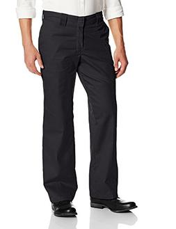 Dickies Men's Relaxed Fit Twill Work Pant, Black, 44x30
